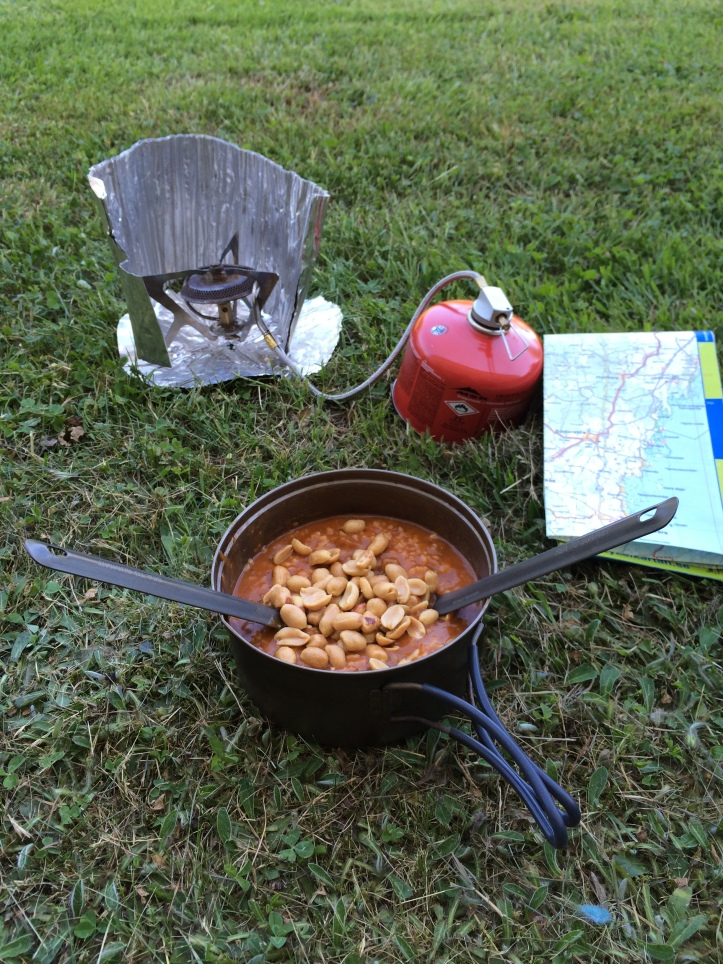 Som vanligt var det Real Turmat Chili con carne och jordnötter som gällde.