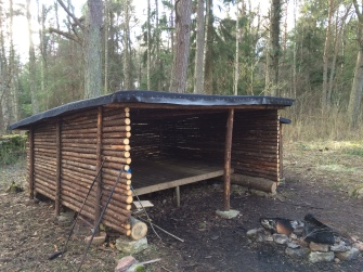 Finfina vindskydd i Penåsa.